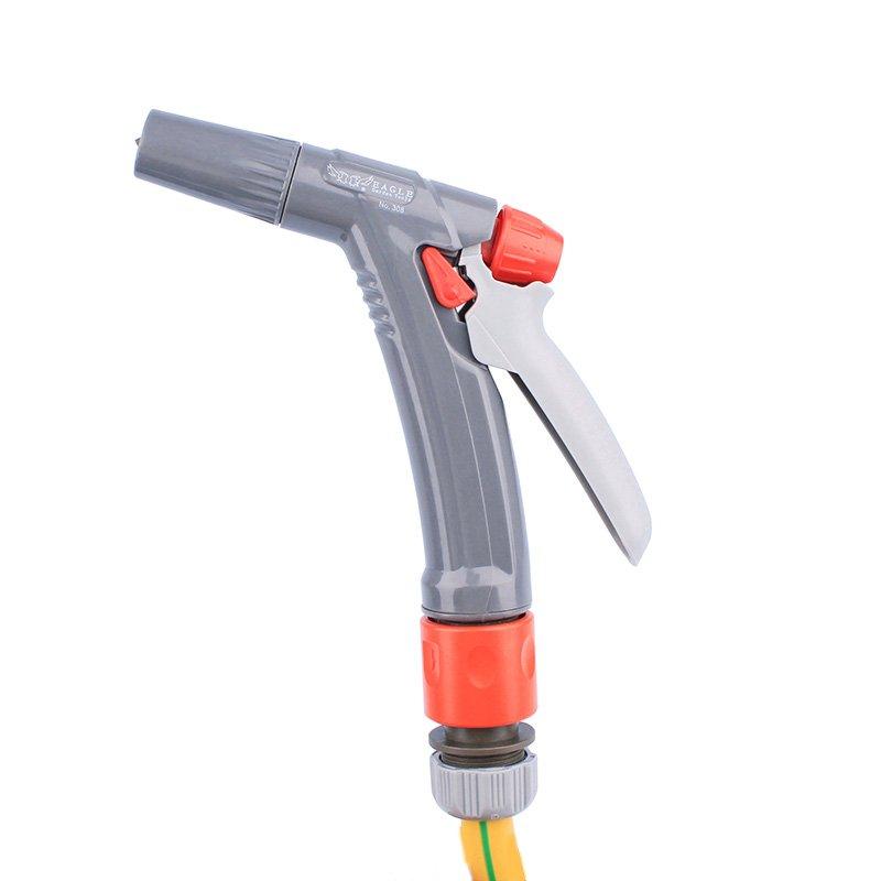plastic garden sprayer nozzle+spray gun set+PP and ABS+Adjustable 2 watering pattern  spray nozzle+EG-308