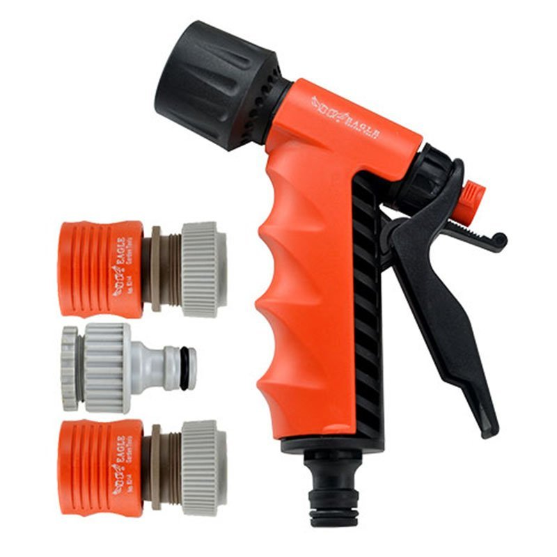 plastic garden sprayer nozzle+spray gun set+PP and ABS+Adjustable 2 watering pattern  spray nozzle+EG-804A