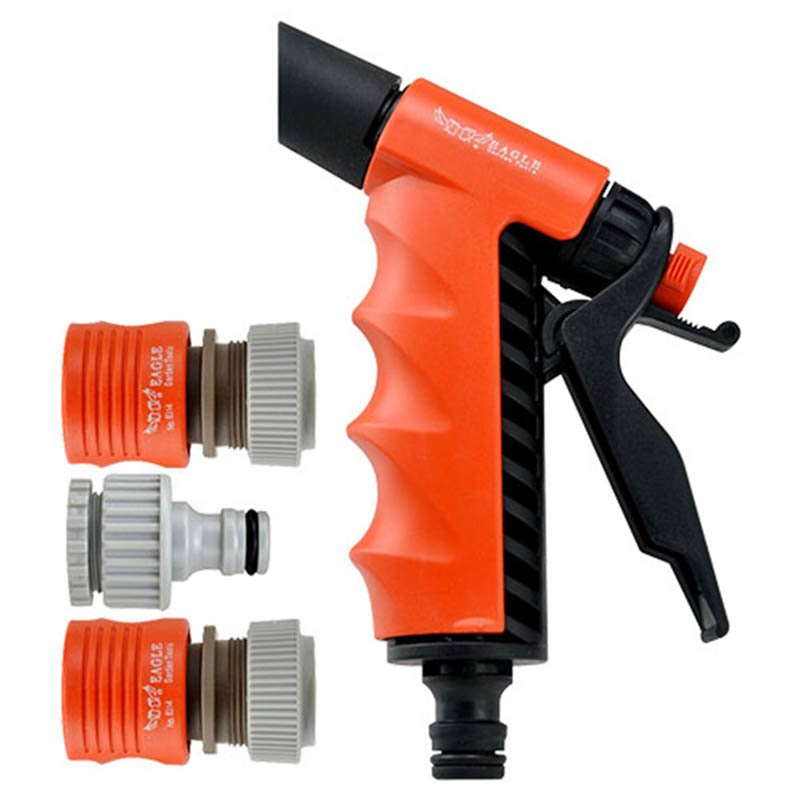 plastic garden sprayer nozzle+ spray gun set+PP and ABS +easy adjustable 2 watering pattern jet trigger pistol+EG-802A