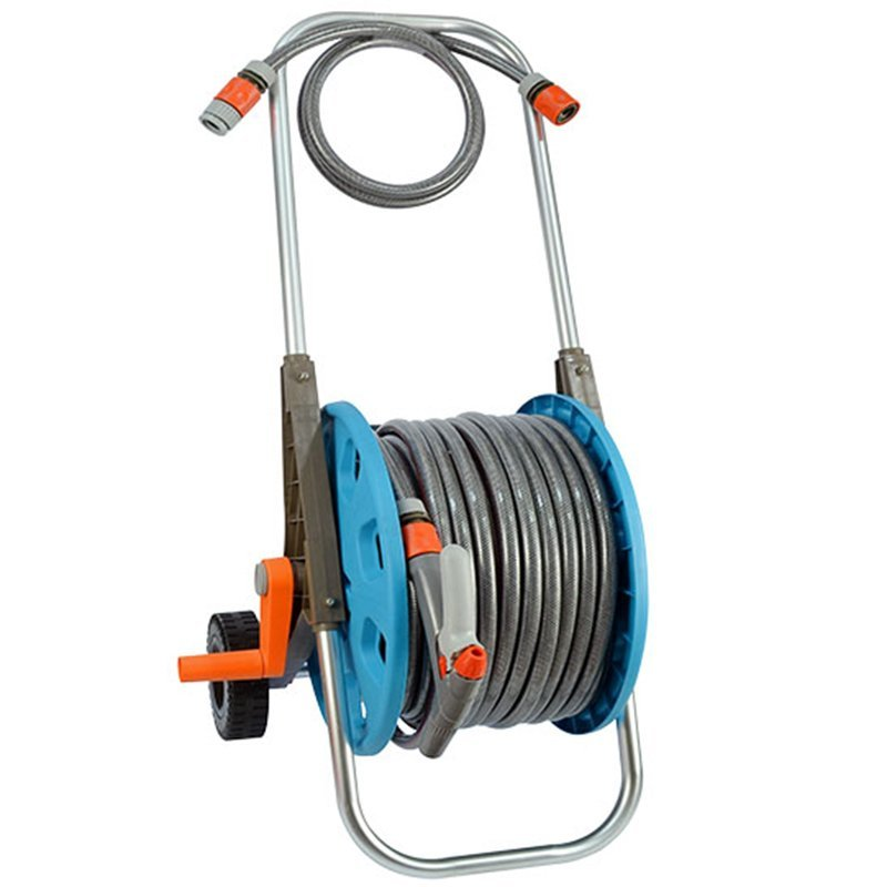 EG3050DL-50 Good quality low price watering hose trolley with 2 patterns adjustable spray nozzle