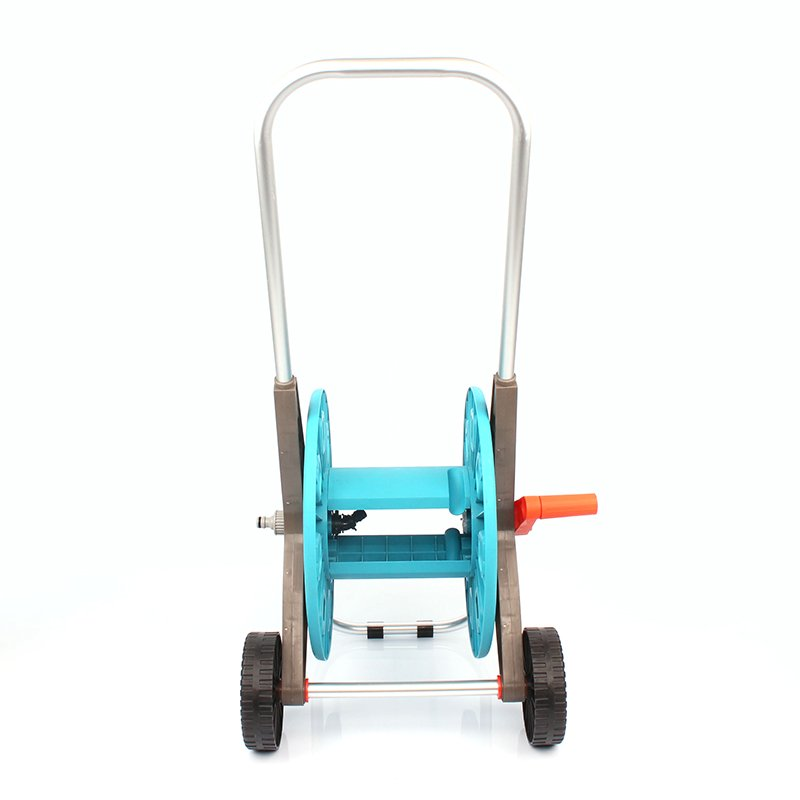 detachable garden hose reel cart with two wheel +50 meter Thirty  Hose Reel car+PP and ABS+Aluminum tube+3050DL
