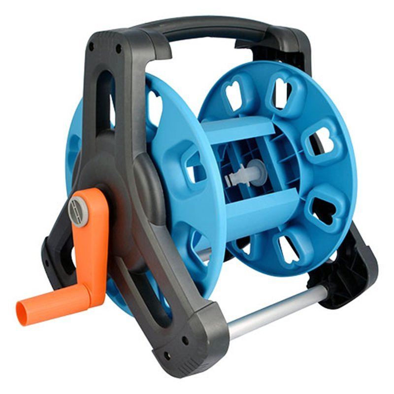 plastic and aluminum garden hose reel rack with 30 meter half inch hose storation+hose reel car+PP and ABS+Aluminum tube+EG-6230