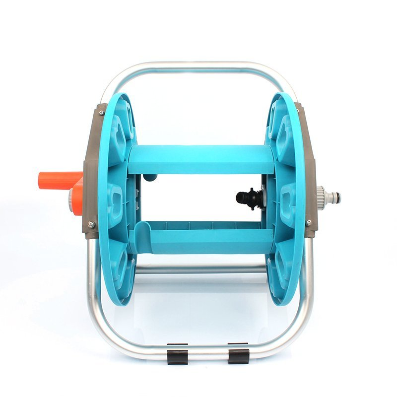 plastic and aluminum garden hose reel rack with 20 meter half inch hose storation+hose reel car+PP and ABS+Aluminum tube+EG-1015