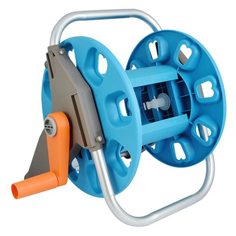 plastic and aluminum garden hose reel rack with 30 meter half inch hose storation+hose reel car+PP and ABS+Aluminum tube+EG-2030