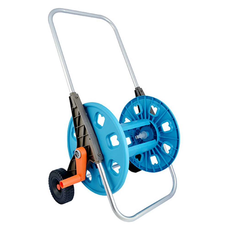 detachable garden hose reel cart with two wheel +80 meter Thirty  Hose Reel car+PP and ABS+Aluminum tube+3280DL