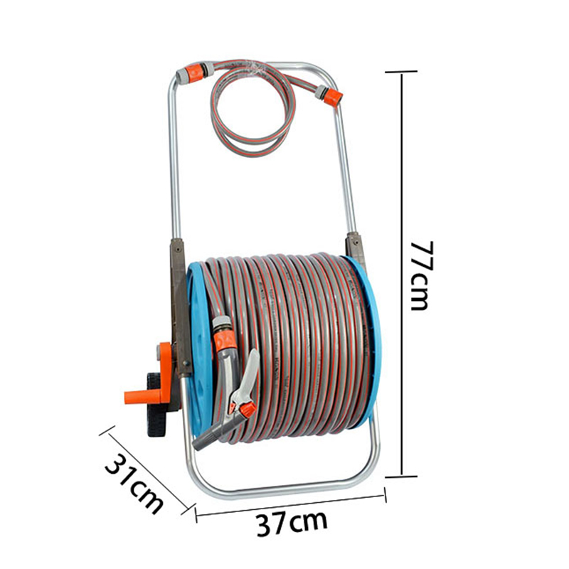 EG3280-80 Good quality low price watering hose trolley with 2 patterns adjustable spray gun