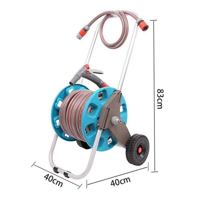 house garden flower watering agricultural irrigation30 meter hose reel+30 Thirty Meter Hose Reel Set+PP and ABS+Aluminum tube
